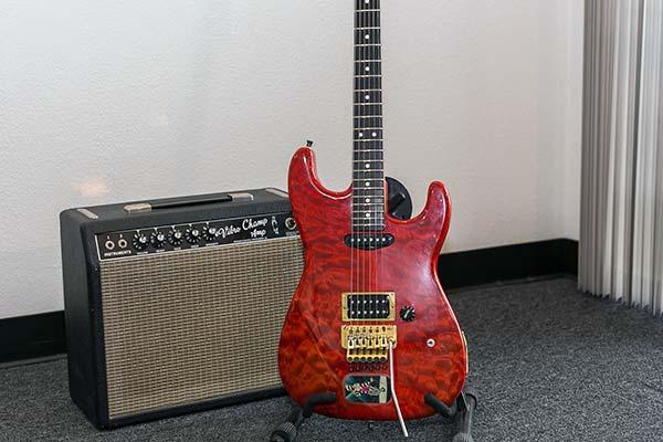 1964 Vibro Champ 1984 Charvel Strat Guitar