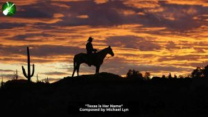 Man of Horse with sunset background