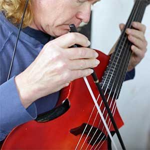 Michael Lyn Recording With Rare Violin Guitar